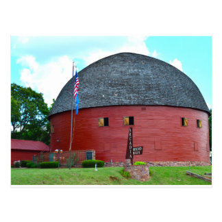 The Round Barn of Arcadia Postcard