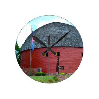 The Round Barn of Arcadia Round Clock