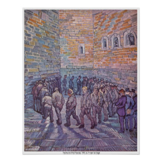 The Round of the Prisoners by Vincent van Gogh Poster
