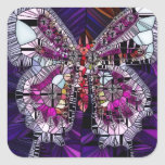 The Royal Butterfly Effect - Sapphire & Amethyst Square Sticker