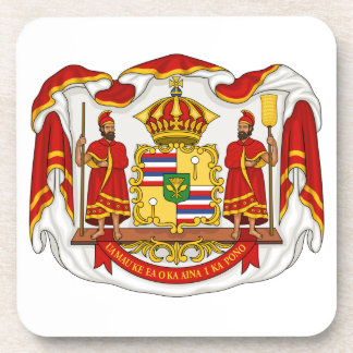The Royal Coat of Arms of the Kingdom of Hawaii Coaster
