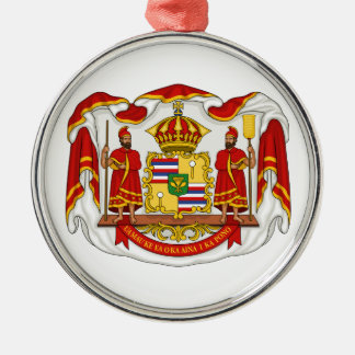 The Royal Coat of Arms of the Kingdom of Hawaii Metal Ornament