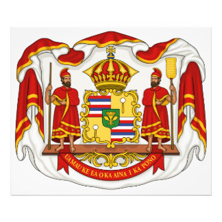 The Royal Coat of Arms of the Kingdom of Hawaii Photograph