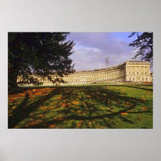 The Royal Crescent, Bath. Poster