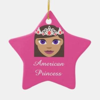The Royal Families American Princess Emoji Ceramic Ornament