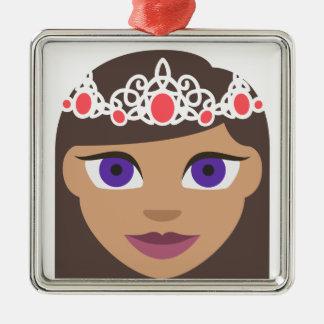 The Royal Families American Princess Emoji Metal Ornament