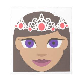 The Royal Families American Princess Emoji Notepad