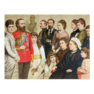 The Royal Family, 1880 Postcard