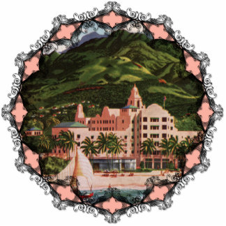 The Royal Hawaiian Hotel Ornament Photo Sculpture Decoration
