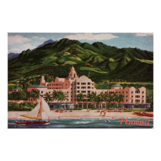 The Royal Hawaiian Hotel Poster