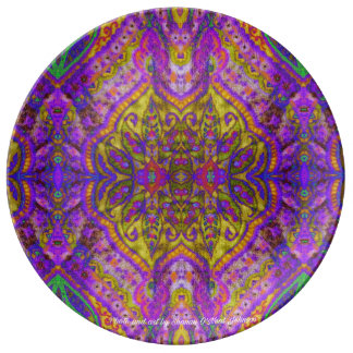 The Royal Indian tapestry Porcelain Plate