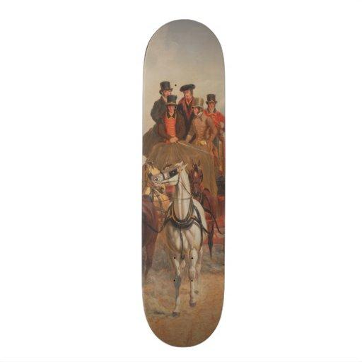The Royal Mail Coach on the Road - John Herring Skateboard Decks