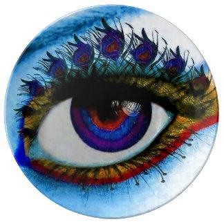 the royal purple peacock eye porcelain plate