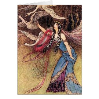 The Royal Swans Card
