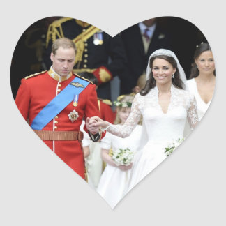 The Royal Wedding 9 Heart Sticker
