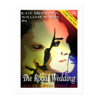 The Royal Wedding Kate and Wills postcard
