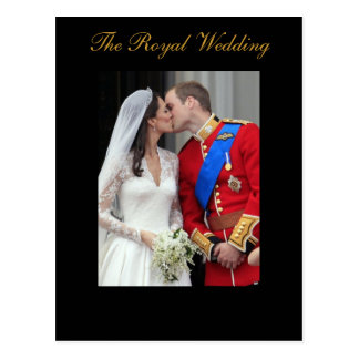 The Royal Wedding Prince William Kate Middleton Postcard