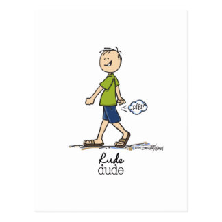 The Rude Dude Postcard