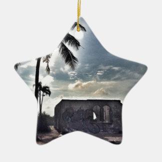 The Ruins in Bantayan Island Ceramic Ornament