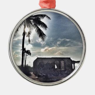 The Ruins in Bantayan Island Metal Ornament