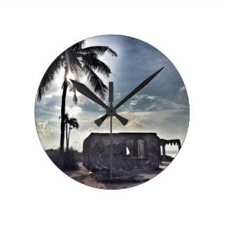 The Ruins in Bantayan Island Round Clock