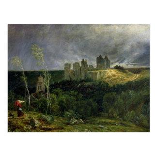 The Ruins of Chateau de Pierrefonds, 1861 Postcard