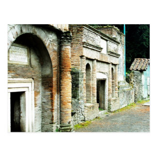 The Ruins of Pompeii - marketplace with temples Postcard