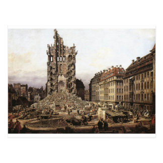 The Ruins of the old Kreuzkirche, Dresden by Berna Postcard