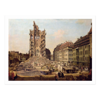 The Ruins of the old Kreuzkirche, Dresden Postcard
