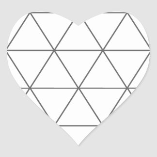 The Rule of Triangle 01 Heart Sticker