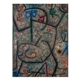 The rumors by Paul Klee Postcard