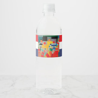 The Runners by Robert Delaunay Water Bottle Label