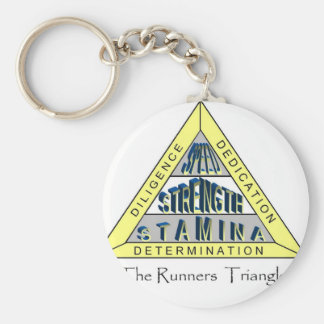 The RUNNER'S TRIANGLE Key Ring