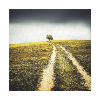 The rural road on canvas wall art