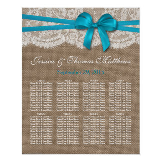 The Rustic Blue Bow Wedding Collection Seating Posters