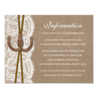 The Rustic Horseshoe Wedding Collection Detail 11 Cm X 14 Cm Invitation Card