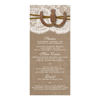 The Rustic Horseshoe Wedding Collection Menu Card