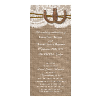 The Rustic Horseshoe Wedding Collection Programs Rack Card Template