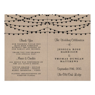 The Rustic Kraft String Lights Wedding Collection 21.5 Cm X 28 Cm Flyer