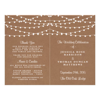 The Rustic Kraft String Lights Wedding Collection 21.5 Cm X 28 Cm Flyer