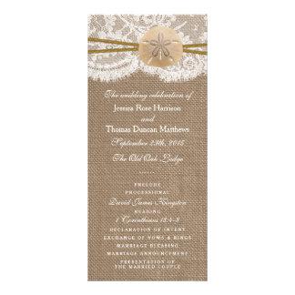 The Rustic Sand Dollar Wedding Collection Programs Rack Card