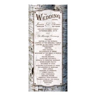 The Rustic Silver Birch Tree Wedding Collection 10 Cm X 23 Cm Rack Card