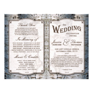 The Rustic Silver Birch Tree Wedding Collection 21.5 Cm X 28 Cm Flyer
