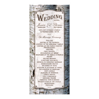 The Rustic Silver Birch Tree Wedding Collection Rack Card