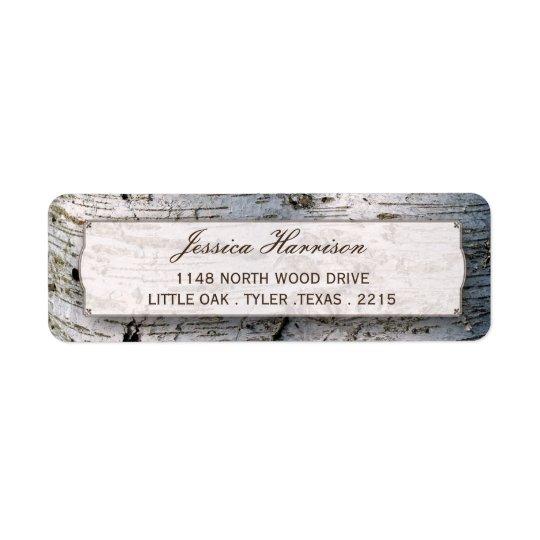 The Rustic Silver Birch Tree Wedding Collection Return Address Label
