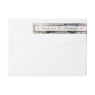 The Rustic Silver Birch Tree Wedding Collection Wraparound Return Address Label
