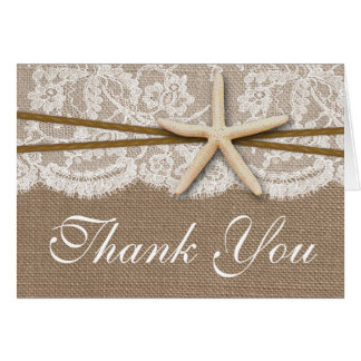 The Rustic Starfish Beach Wedding Collection Note Card