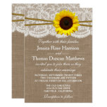 The Rustic Sunflower Wedding Collection 13 Cm X 18 Cm Invitation Card