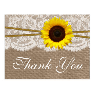 The Rustic Sunflower Wedding Collection Postcard