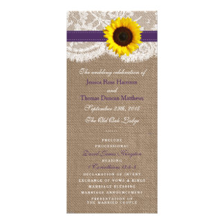 The Rustic Sunflower Wedding Collection - Purple Personalized Rack Card